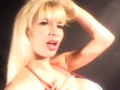 Huge Titted Blonde Milf Gives Blowjob