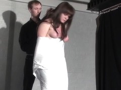 Amateur ### Louise plastic wrapped bondage and candlewax punishment of helpless bdsm submissive in.