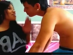 Latin couple can't stop watching themselves fuck on screen