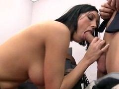 Heavy chested Dylan Ryder sucks dirty Johnny Sins