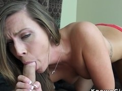 Brunette amateur girlfriend fucked doggy style