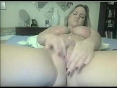 Cute beautiful Chubby girl fingering her Wet Shaven Pussy
