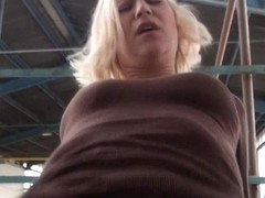 Real dilettante Czech bitch drilled and facialed in public
