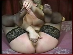 Hawt mother I'd like to fuck fingers in stockings and shows feet encore