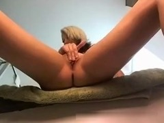 Blonde immature Fingering Her Pussy On A Web Cam