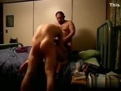 Me getting my dick sucked wile my buddy fucks my wife from behind
