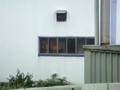 Voyeur captures a couple fucking in the factory, instead of working !!!
