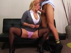 A slutty scene in the office with remarkable whore Keiran Lee