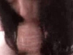 Dark-haired babe is busy with sucking my dick on the POV porn cam