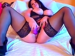 Homemade masterbating video shows me fuck toy