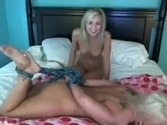 Hot Lesbians Tryin' Some Amateur BDSM on Cam