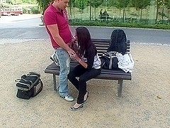 Public fuck episode with cute legal age teenager