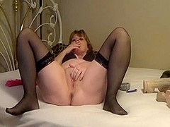 Jolee having a smoke and rubs her pussy