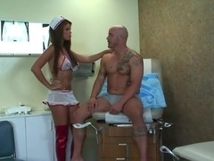 Latina Nurse Does A Perfect Job