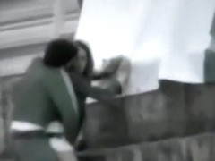 Voyeur tapes a couple fucking at the beach during daytime