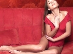 Sabrisse in Sabrisse In Red Hot Strip - EuroBabesHd