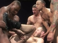 Into Darkness XXX Video: Race Cooper, Tyson Tyler, Shawn Wolfe, Boomer Banks, Trelino