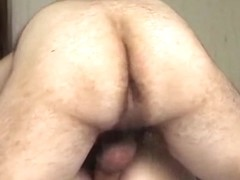 hairy ass bastard gets to fuck wifes ass mish