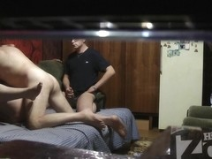 Horny chick having sex with her lover on the hidden camera