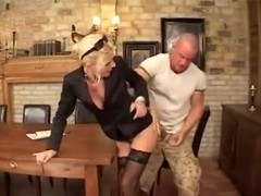 Blonde receives a hard wang in her asshole