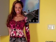 Beautiful ebony interracial pov ethnic hardcore