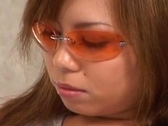 Aya Fujii hot Asian milf in glasses gets pussy poked an