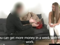 Euro casting beauty creampied by fake agent