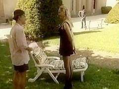 German blonde underware double penetration outside