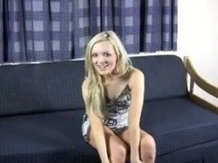 Golden-Haired brit gives a countdown. JOI