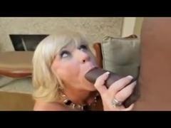 Blonde mature takes BBC