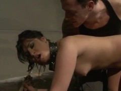 Crazy man has cool fetish fun with slave slut