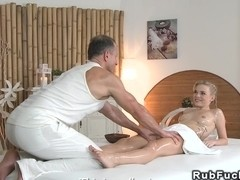 Masseur bangs tattooed blonde fetish euro