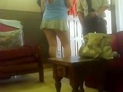 Teen Flashing the postman