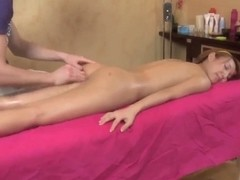 Petite asian Ajenda gets nailed by young masseur