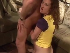 Curly Haired Girl Amber Simpson Sucking Cock N Getting Fucked