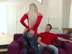 Horny harlot drilled in her tight twat