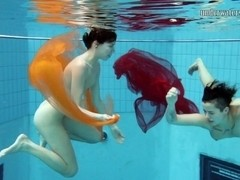 UnderwaterShow Video: Sara Bombina and Gazel Podvodkova