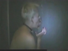 Capturing the wife getting a creampie from a stranger in the gloryhole