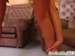 Ass Traffic Teen angel has heavenly orgasm during assfuck.