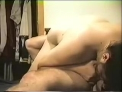 My bbw amateur honey looks very attractive on camera, which is why she sucked my dick while webcam.