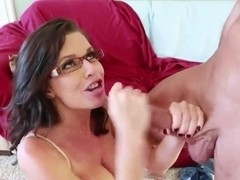 Veronica Avluv blows her well-hung student