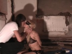 Logan in slutty gal rides schlong in a sex tape video
