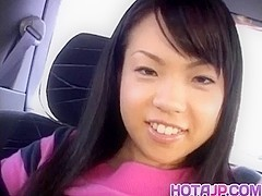 Aya Matsuki has bee stings sucked and slit aroused in the car
