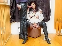 Milf haunch boots smoking champagne blowjob