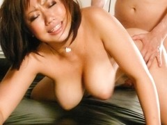 Neiro Suzuka blows on a big dick while in the car