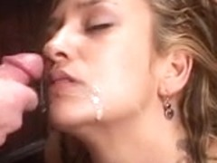 Latin Chick employee sucks boss' rod