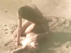 Voyeur on public beach. Hawt juvenile pair sex once more