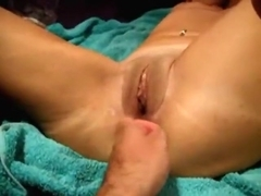 fisting her ass
