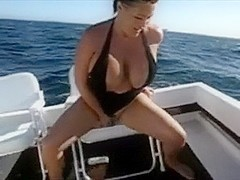 Mature I'd Like To Fuck with large mambos sits on her vibrator in my boat