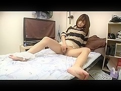 Hot and creamy Japanese masturbation